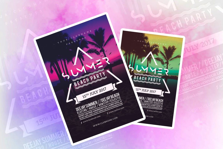 Summer Beach Party Flyer Templates Psd Jpg  Flyer Templates