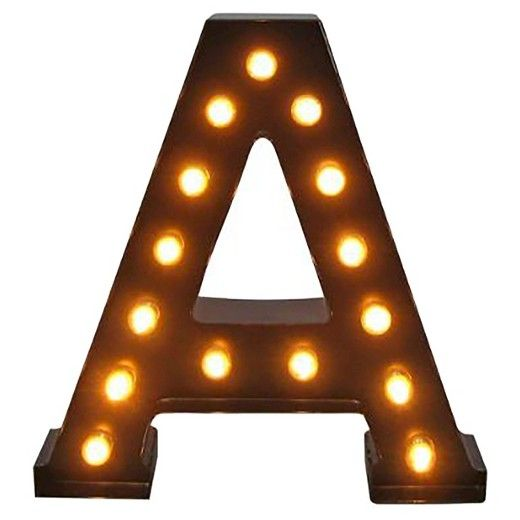 metal marquee letter small a threshold target