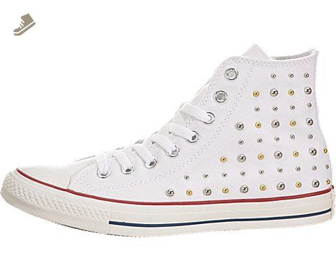 Womens Chuck Taylor All Star Hi Studs White Sneaker - 7