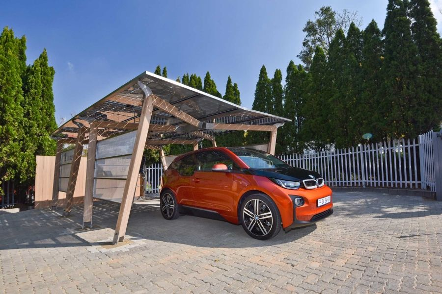 Bmw South Africa Unveils Solar Carport For Ev Charging Carport Solar Electric Vehicle Charging Station