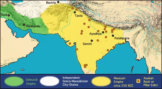 The extent of the mauryan empire of ancient india was much beyond the extent of the mauryan empire of ancient india was much beyond its present boundaries gumiabroncs Gallery