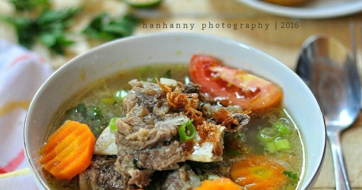 Resep Sup Iga Tangkar Sapi Oleh Hanhanny Resep Resep Sup Resep Masakan Indonesia Makanan