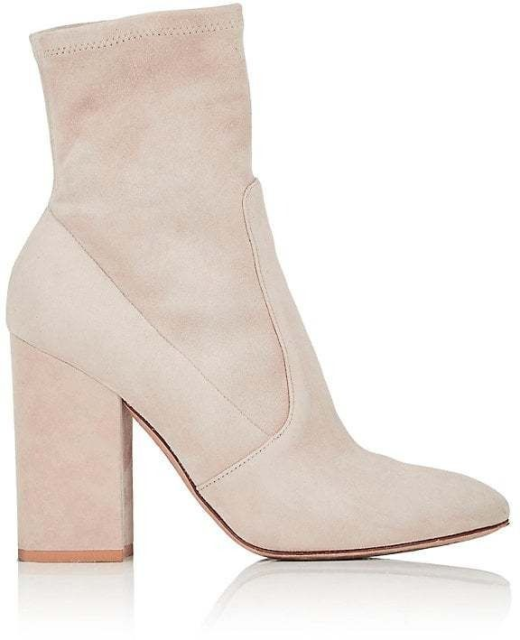 9c2ed812d8 Stretch-Suede Ankle Boots by Valentino on ShopStyle. | shoes | Boots ...