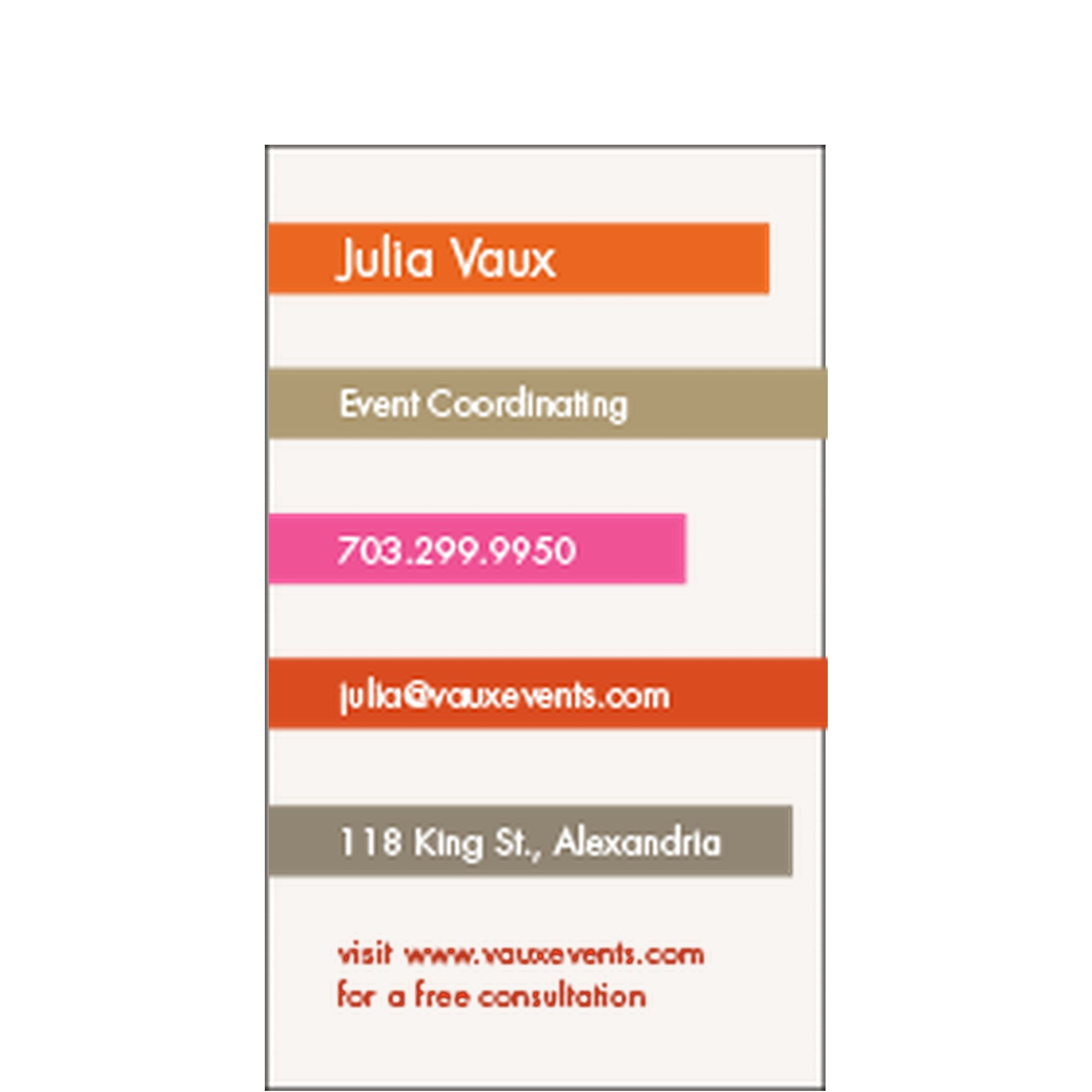 Stacked Business Card-- Love these for the school! | Design ...