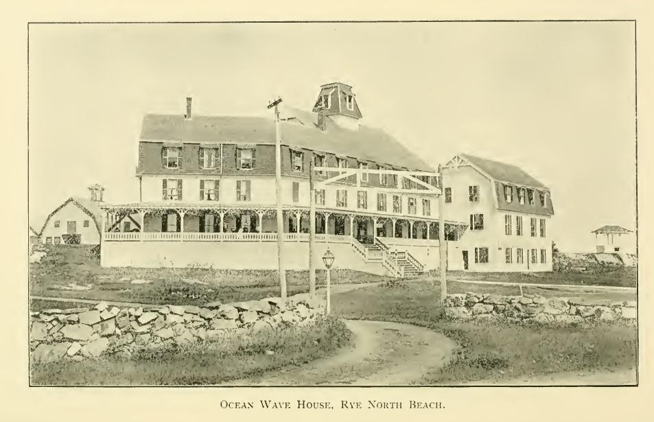 Ocean Wave House North Rye Beach Nh 1905