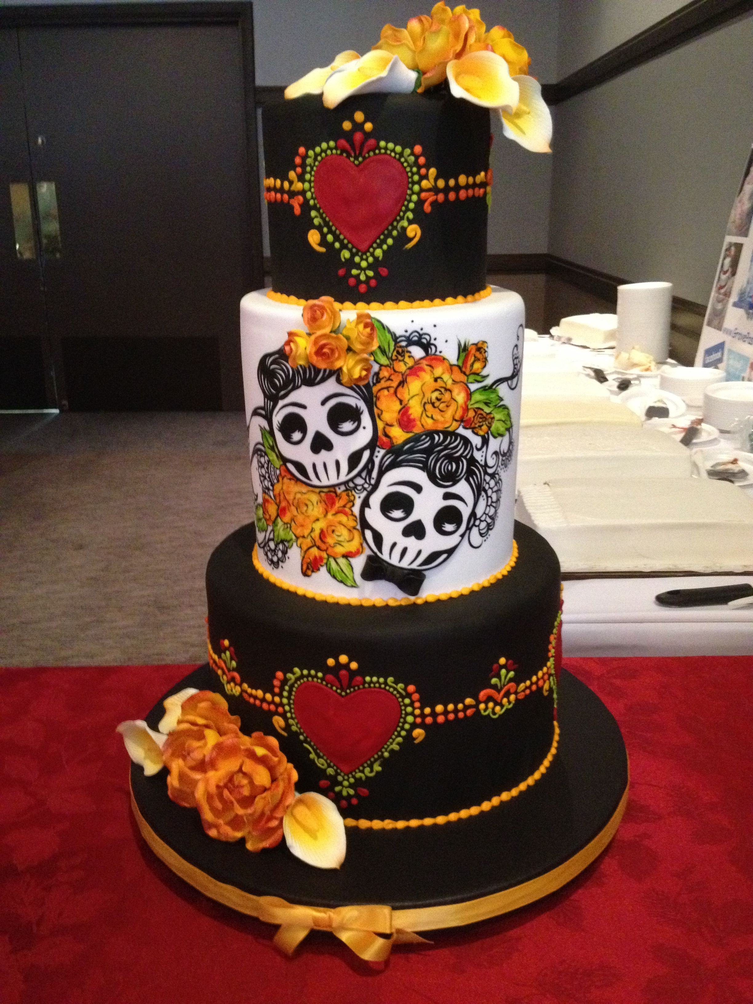 Day Of The Dead Wedding Cake Sugar Skull Cakes Day Of The Dead