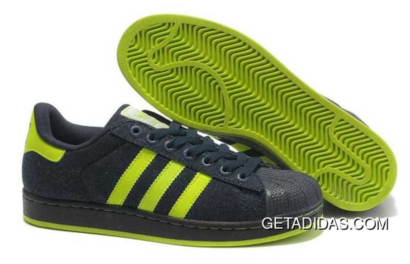 detailed look a6386 c4afd ... free shipping adidas superstar ii 365 days return hyper limit  comfortable womens shoes black green yellow