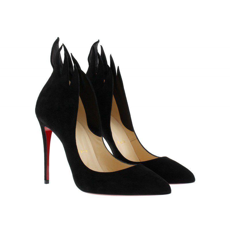 26f4891776c Christian Louboutin Pumps – Victorina 100 Pumps Suede Black – in schwarz –  Pumps für Damen