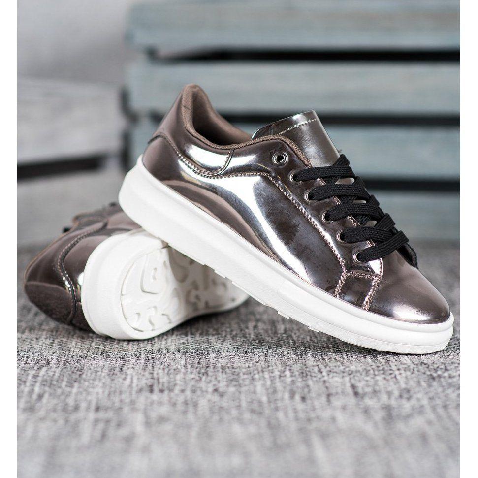 Bona Blyszczace Buty Na Platformie Brazowe Wielokolorowe Nike Air Force Sneaker Air Force Sneakers Sneakers