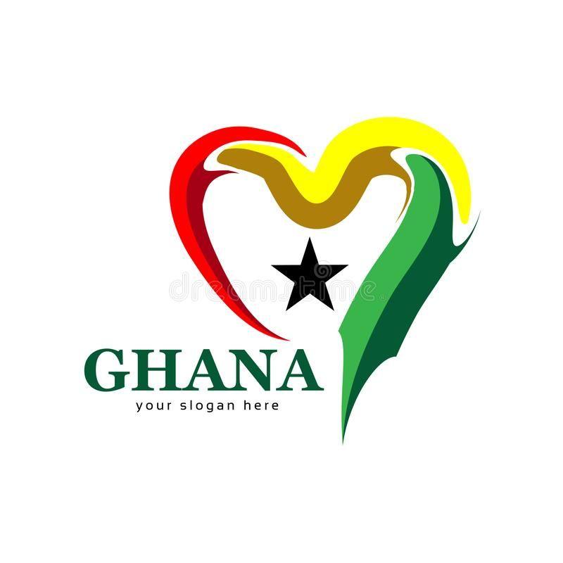 Ghana Flag Heart Stock Vector Vector Illustration On White Background Eps File Sponsored Vector Vector Illustra Ghana Flag Ghana Vector Illustration