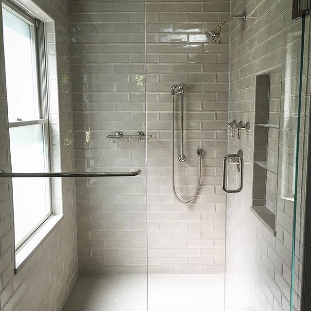 This Used To Be A Closet 3x9 Raised Edge Vento Grey Tile Mission Stone Tile Love A Cle Washroom Style Bathroom Design Small Modern Modern Bathroom Design