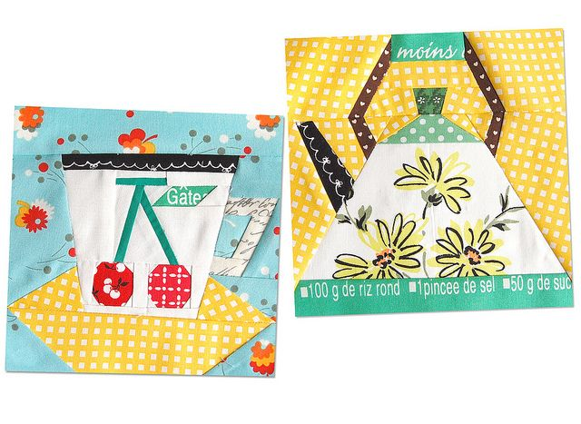 Afternoon tea blocks for Kerry ~ 318 bee ~ by ayumills, via Flickr