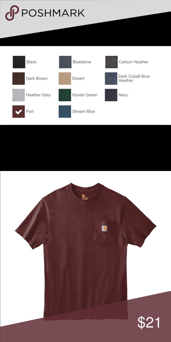 a991090a013d1f Carhartt ® Workwear Pocket Short Sleeve T-Shirt Carhartt's bestselling,  no-quit, original work shirt. A classic for 25 years.