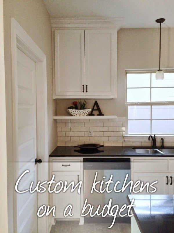 Custom Kitchens On A Budget Under Cabinet Shelf Subway
