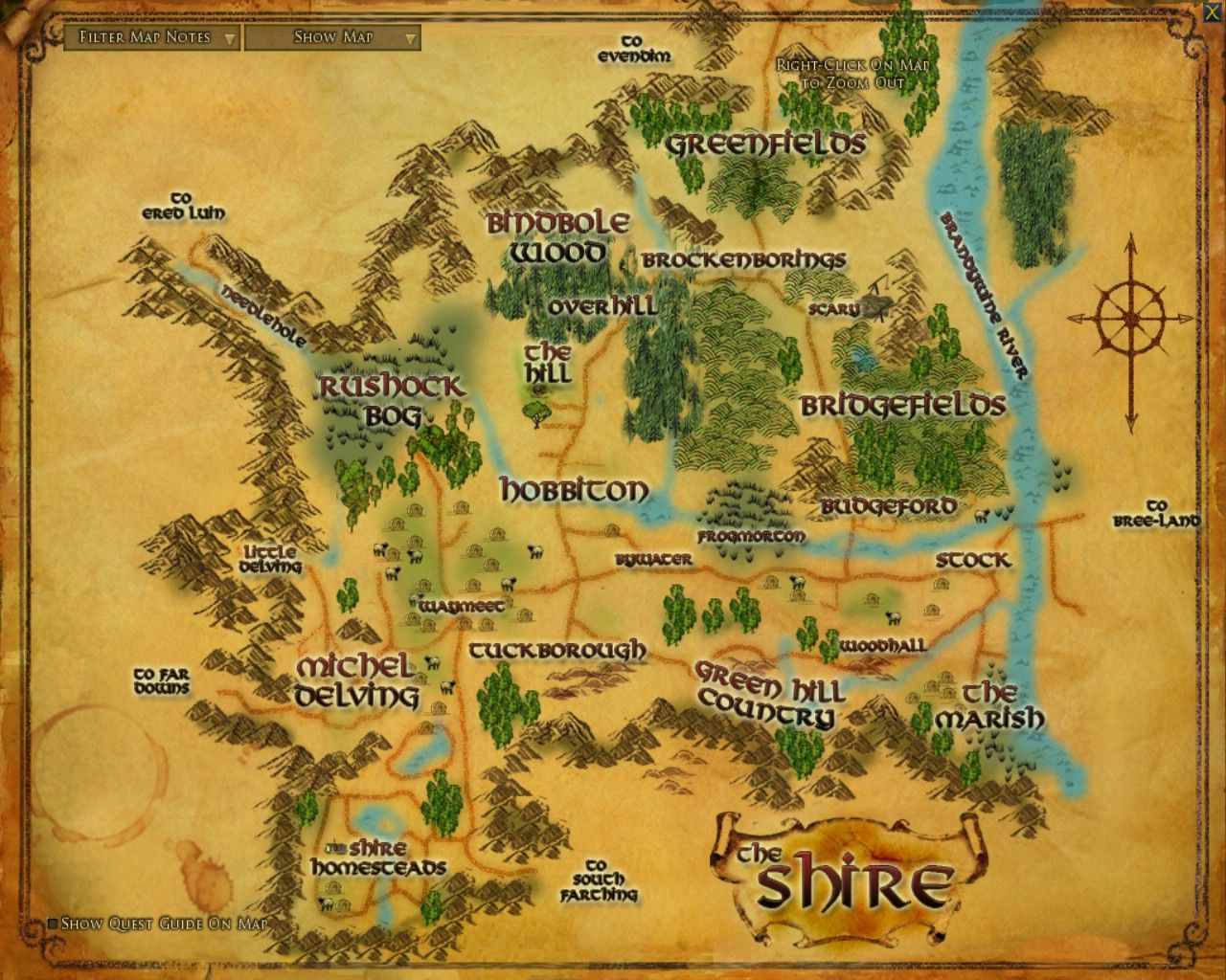 Map of the Shire  JRRTolkien  Pinterest