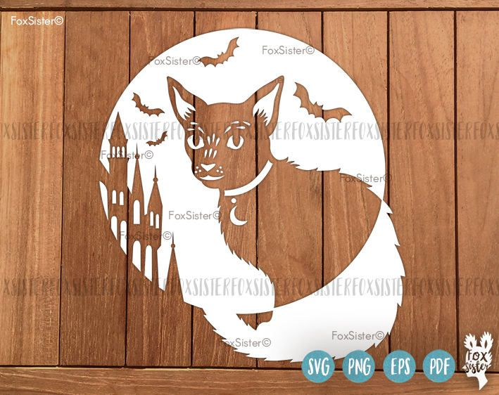 Black Cat Moon Halloween SVG Cut file Happy Halloween Castle - halloween template