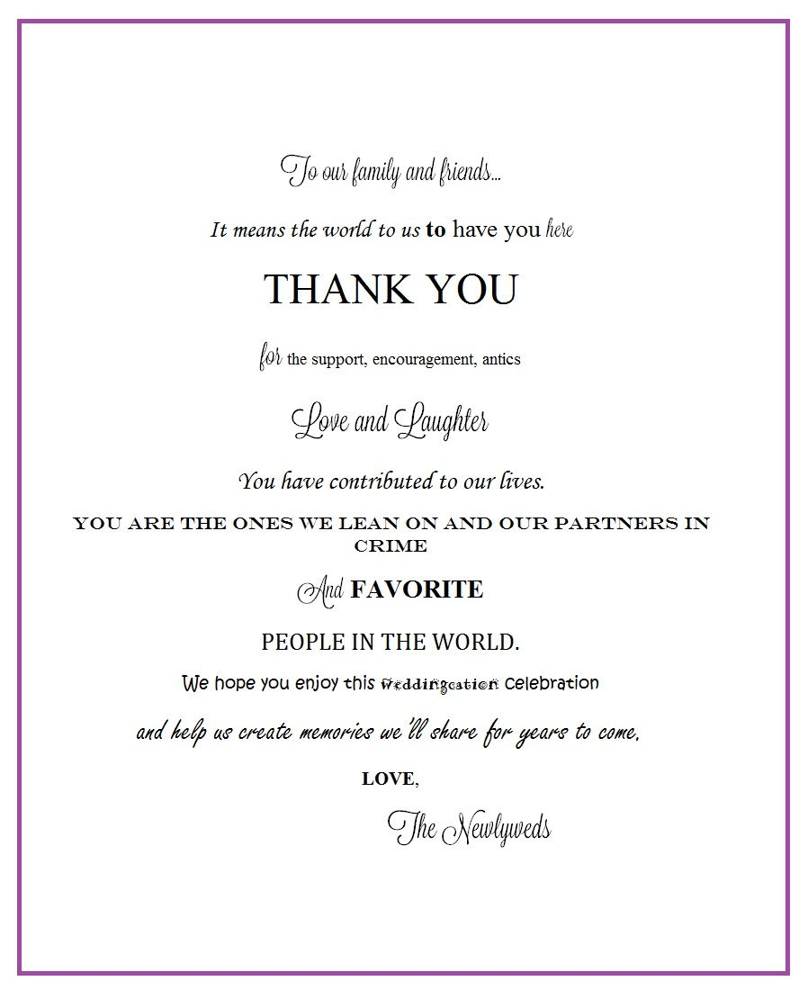 Thank You Letter For Wedding Gift: Thank You Letter For Gift Bags In The Hotel Rooms