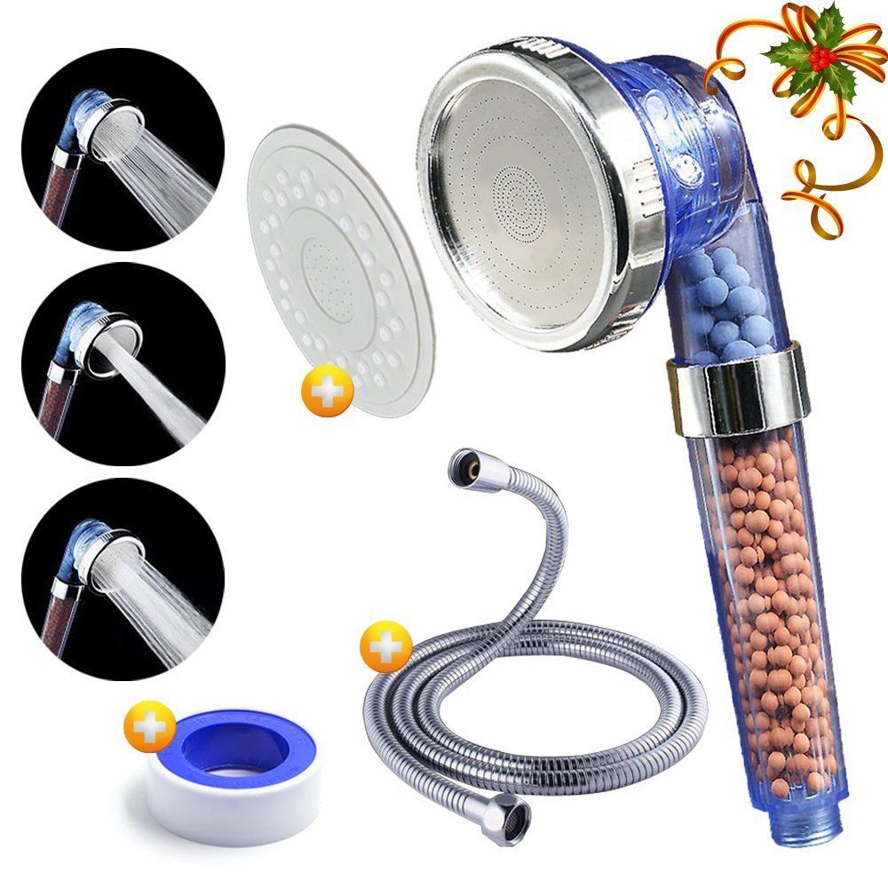 Shower Head Luxsego Ionic Pure Filter [IFS-001] with a Shower Hose ...