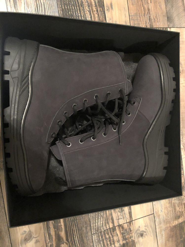d2266a99677a9 Yeezy Season 5 Graphite Nubuck Combat Boot 43  Size 10 US  fashion  clothing
