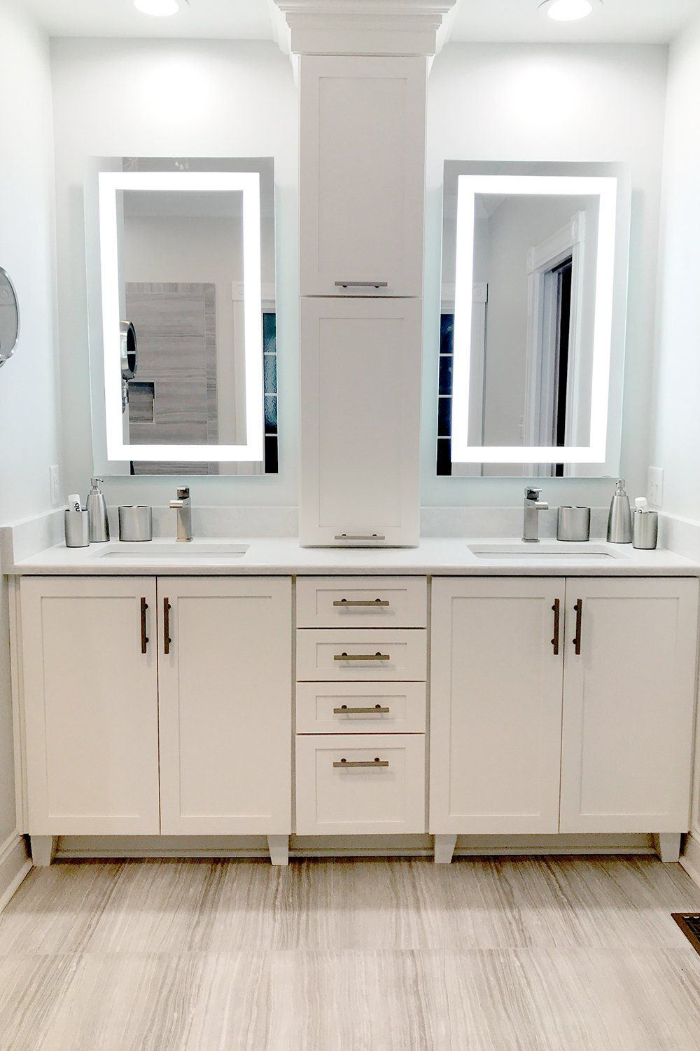 Front Lighted Led Bathroom Vanity Mirror 28 Wide X 48 Tall Rectangular Wall Mounted In 2020 Bathroom Vanity Bathroom Design Bathroom Styling