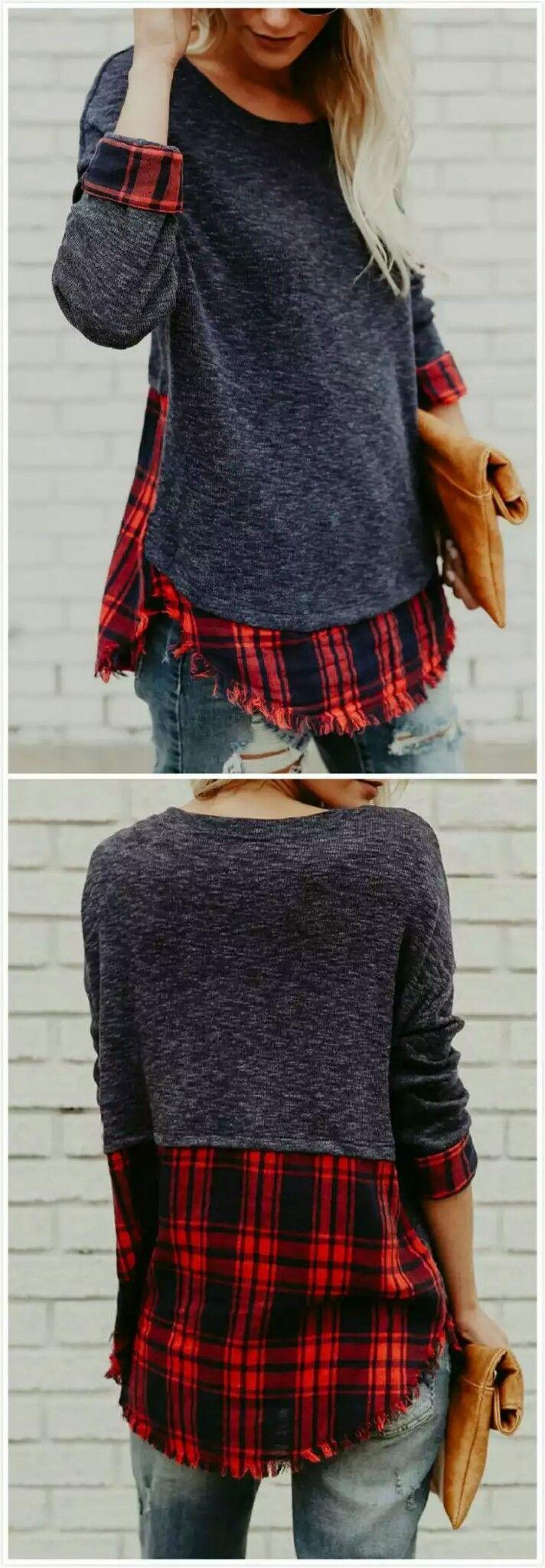 Flannel shirt ideas  Possible sweat shirt refashion idea  Clothes  Ideas u Makeovers