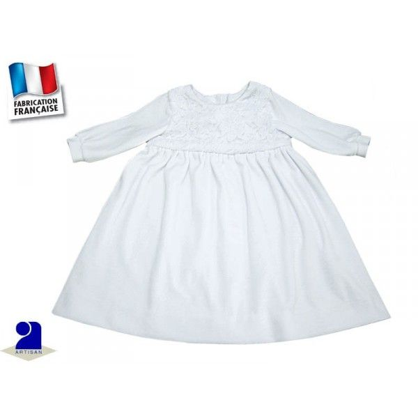 Robe blanche hiver 18 mois