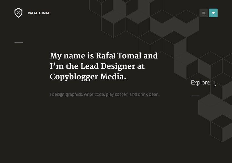 Rafal Tomal - Flat Design Website