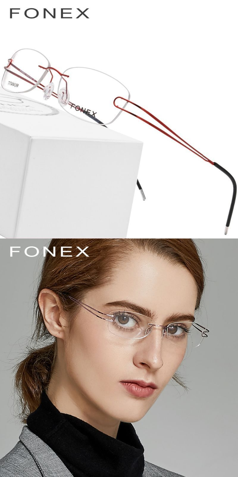 0a52cc9af87 Titanium rimless glasses frame women ultralight prescription myopia optical  eyeglasses female ladies frameless screwless eyewear  frames  eyewear ...