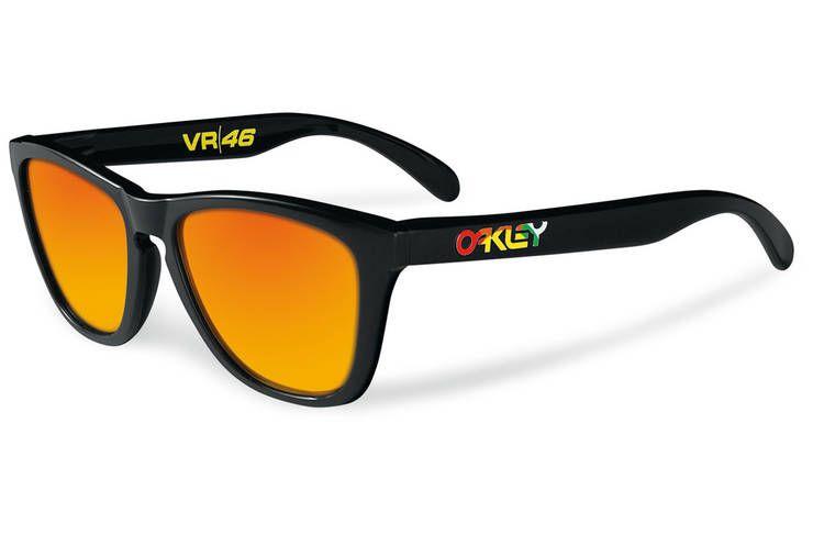 93a1488bf4732 Oakley Valentino Rossi Signature Frogskins - Polished Black - Fire Iridium  Lentes