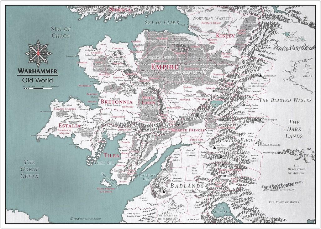 Old World Map Warhammer Warhammer Old World Map (With images) | Fantasy map, Old world
