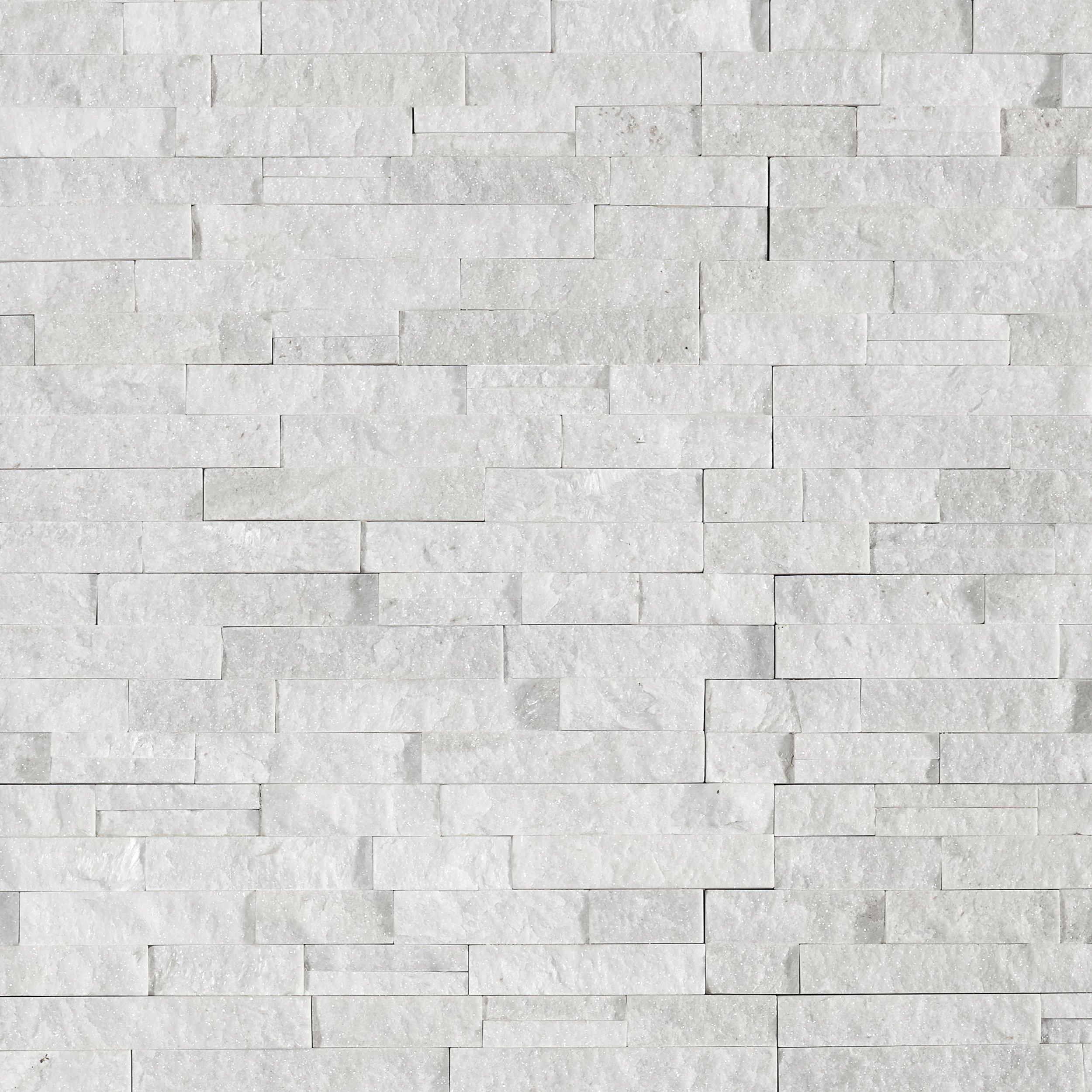 Glacier Splitface Quartzite Panel Ledger In