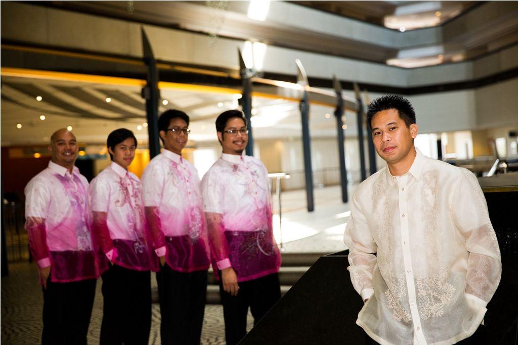 Rena Chris Traditional Filipino Wedding Wearing Barong Tagalog At