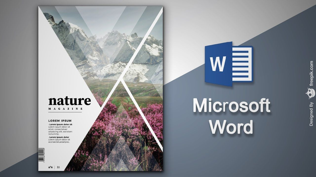 Create Cover Page In Microsoft Word Natural Magazine Cover Designing Cover Page Template Magazine Template Magazine Cover Template Magazine template for microsoft word