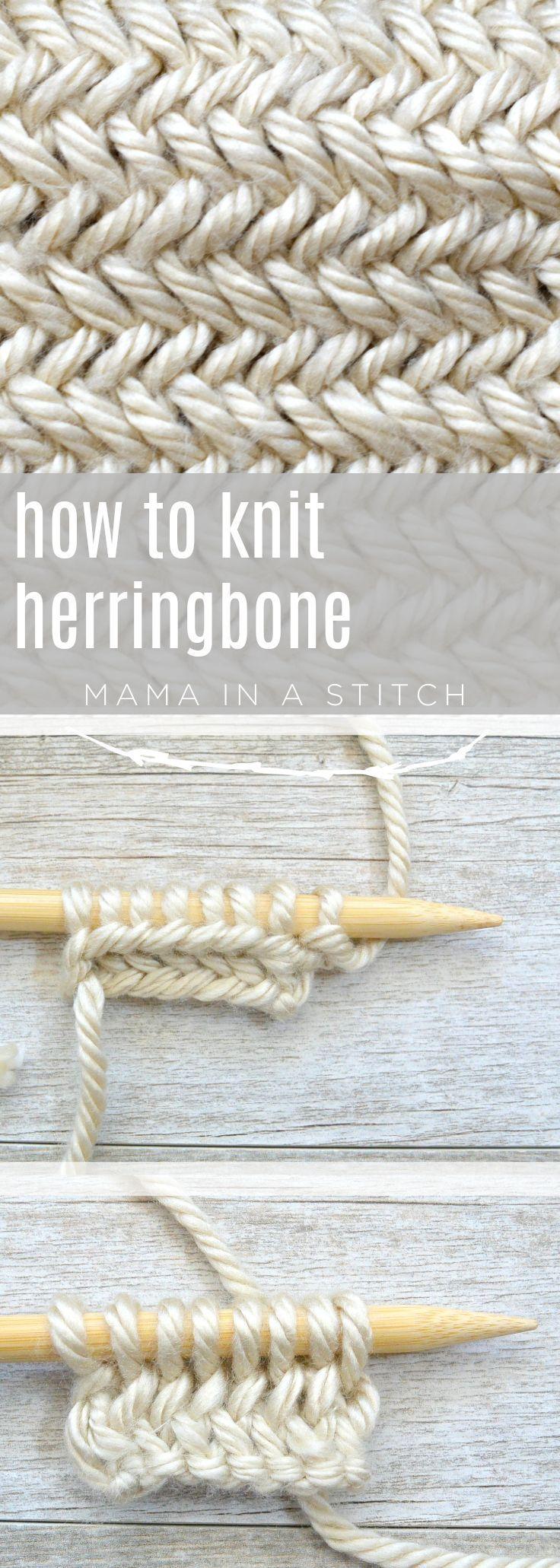 How To Knit the Horizontal Herringbone Stitch #knitting