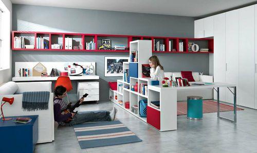 Gab Blau Rot Ideen Kinderzimmer Mädchen Und Jungs