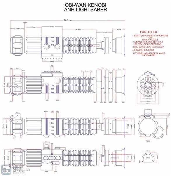 Anh obi wan kenobi lightsaber blueprint jedi costume anh obi wan kenobi lightsaber blueprint malvernweather Gallery
