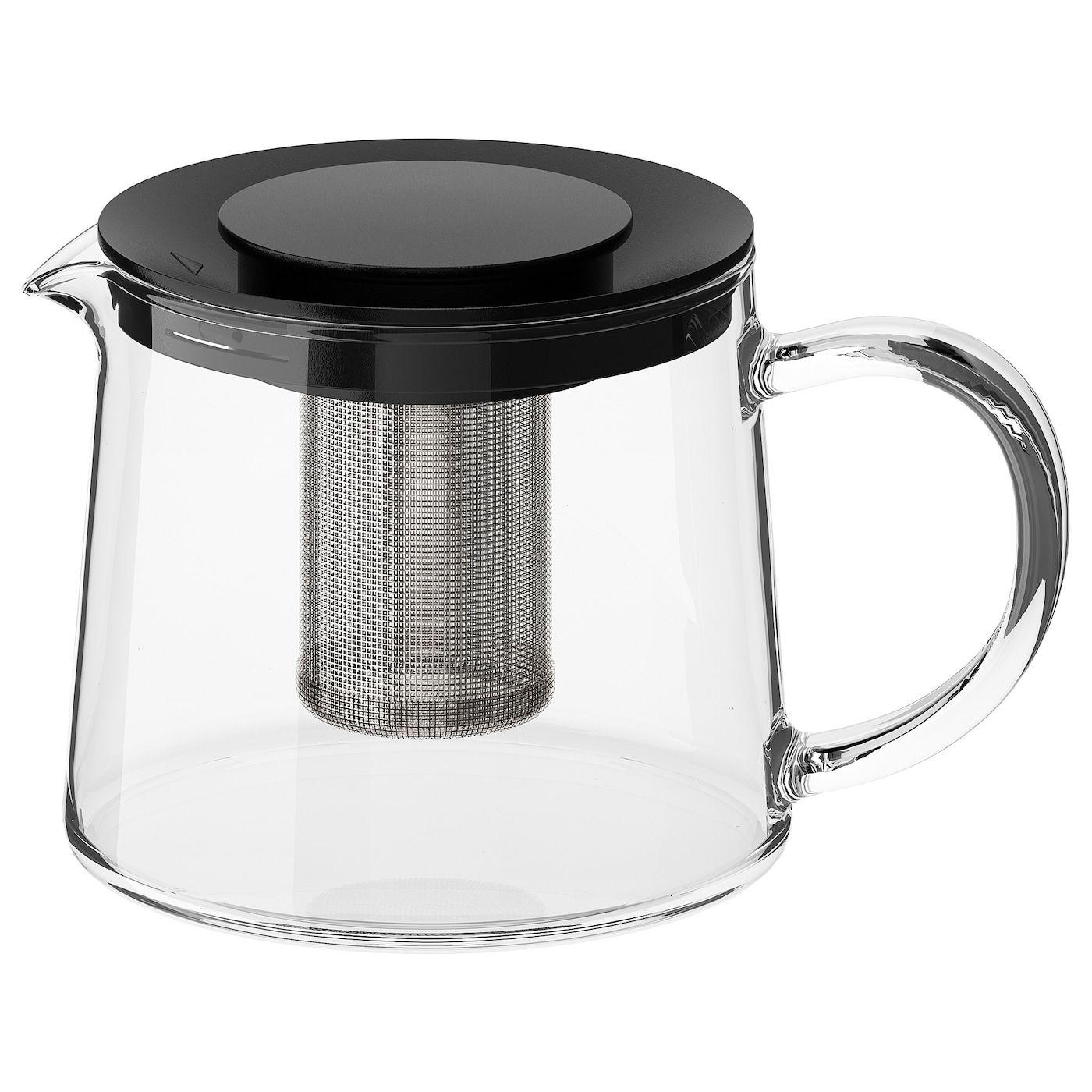 RIKLIG Teapot glass 0.6 qt (0.6 l) Tea pots, Heat