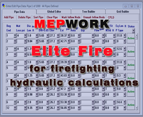 Download Elite Fire for Hydraulic Calculations