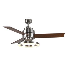 Harbor Breeze Pier 39 Brushed Nickel Downrod Mount Indoor Ceiling Fan with  LED Light Kit and Remote Control