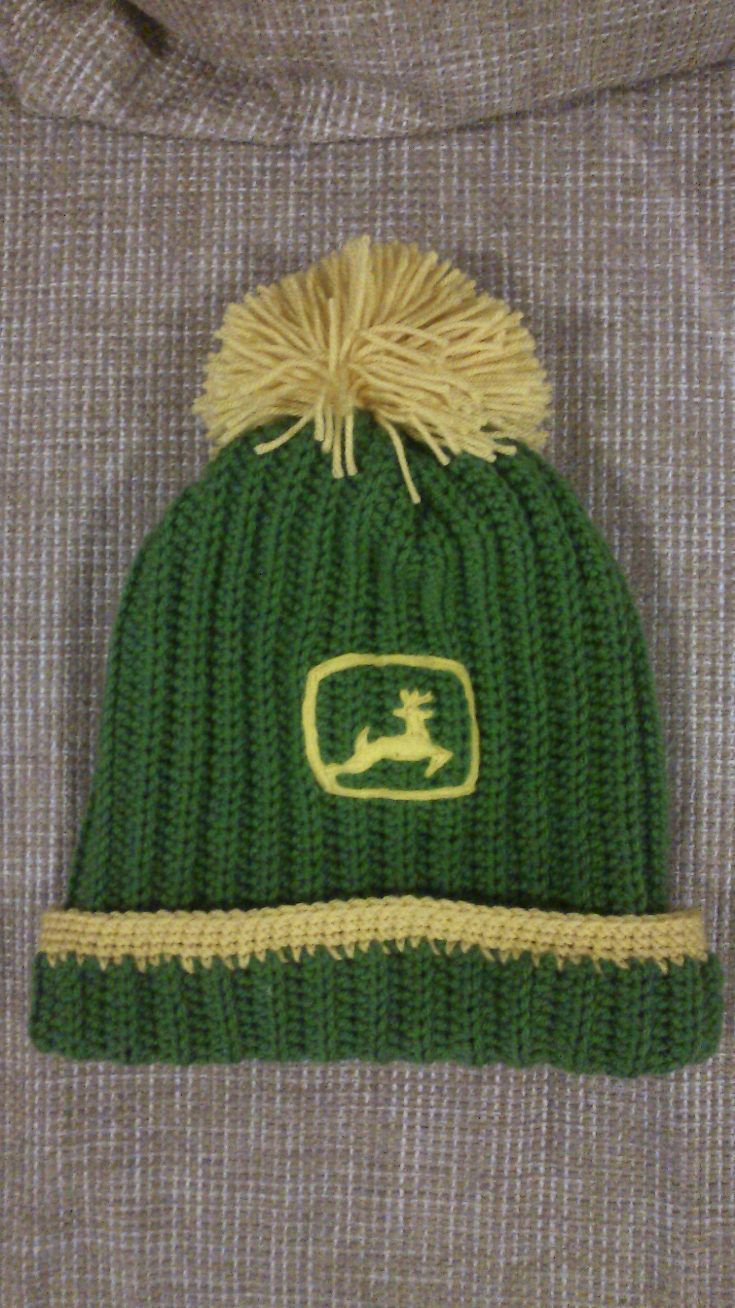 Crochet John Deere hat | My crochet | Pinterest