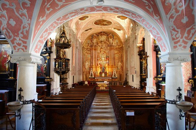 Baroque Interior Of The Crkva Sv Katarine Church St Catherine Painting Above Altar By Andrew Jelov Ek Gradec Zagreb C Croatia Zagreb Zagreb Croatia