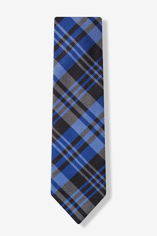 Blue Budapest Plaid Tie