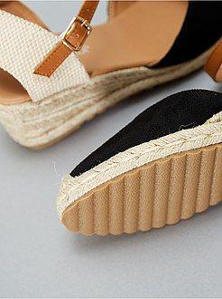 de cuero Zapatos Kiabibeauty Alpargatas Suede Wedge L1tfuk3jc5 7bYf6gy