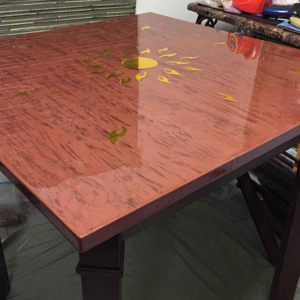 Crystal Clear Bar Table Top Epoxy Resin Coating For Wood Tabletop