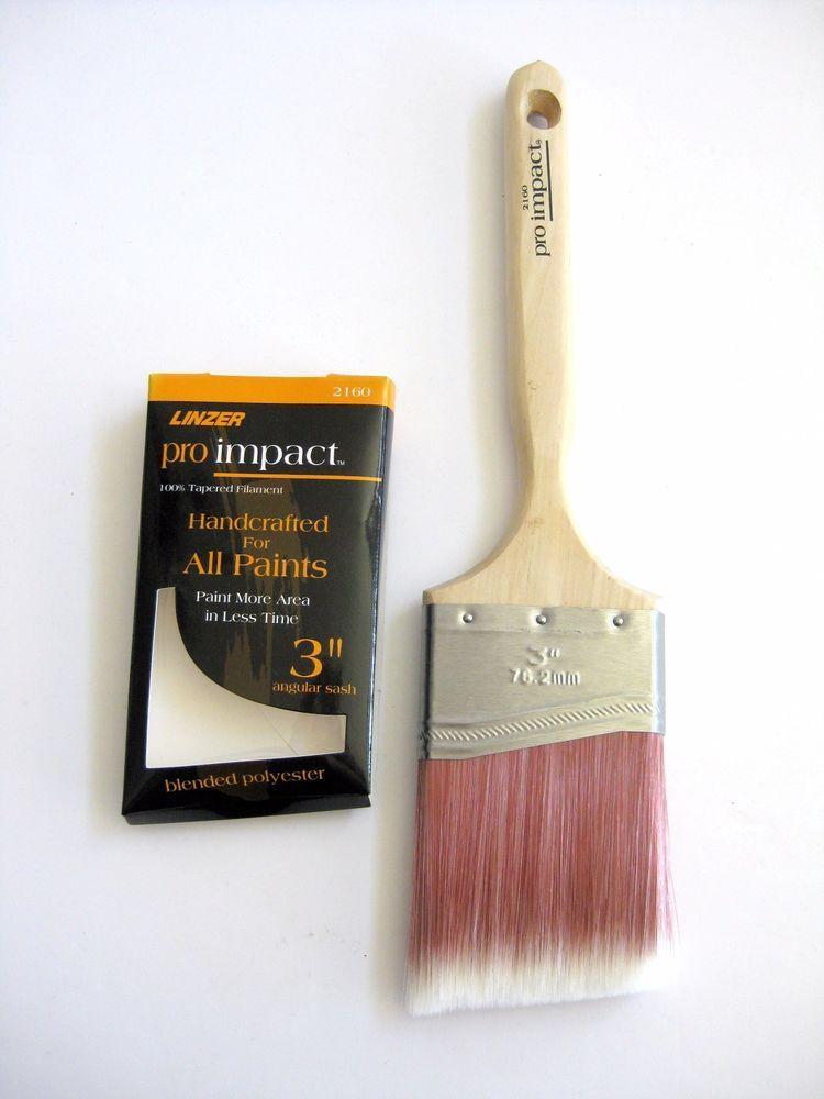 Linzer Paint Brushes 3 Angular Sash Long Wood Handle Pro Impact Linzer Wood Handle Brush Paint Brushes