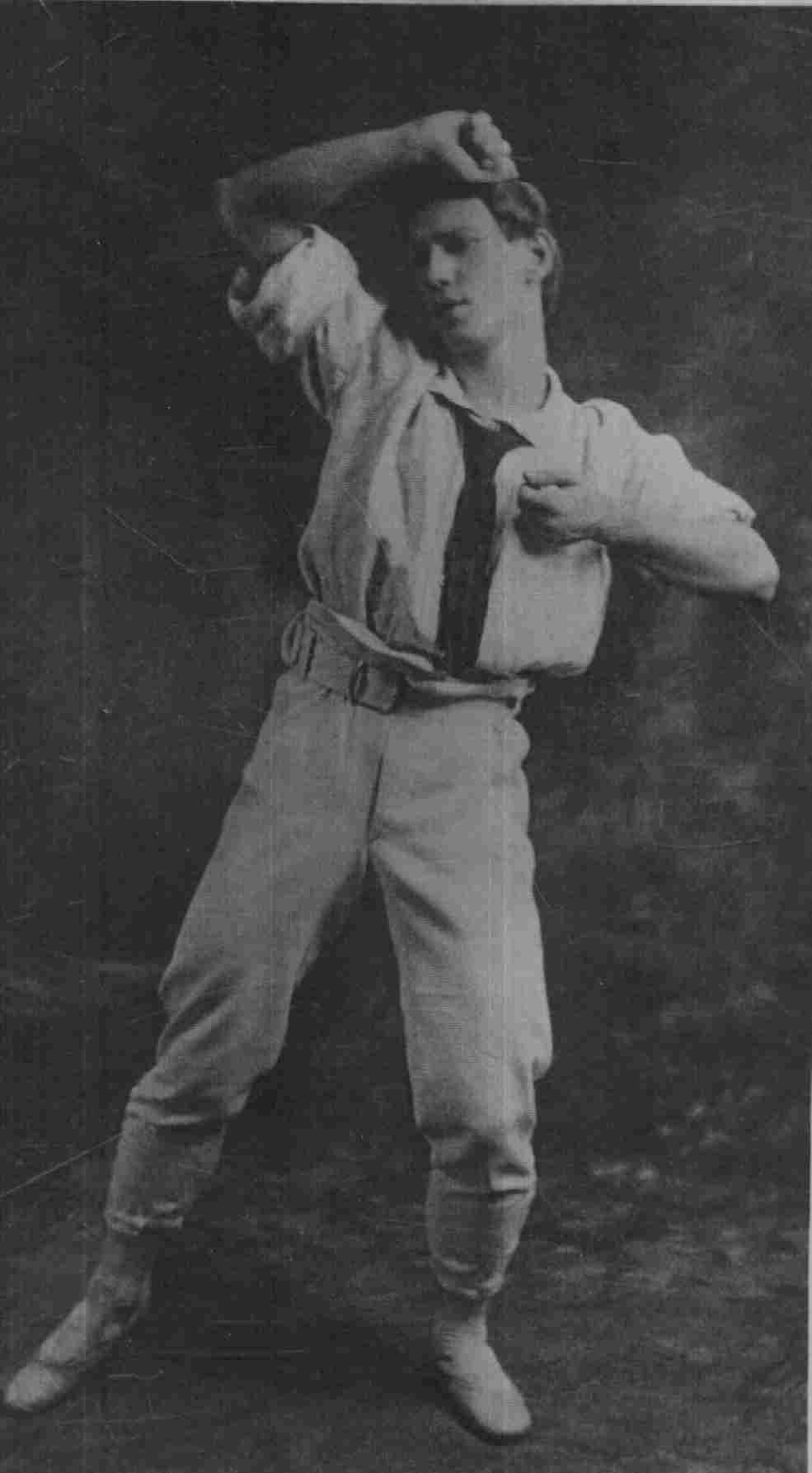Nijinsky in _Jeux_, 1913. Perfect man.