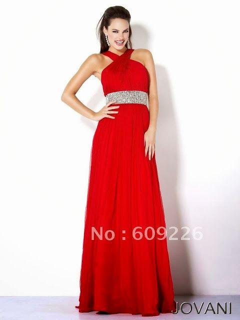 3ba01b38b9 Vestidos de noche de color rojo