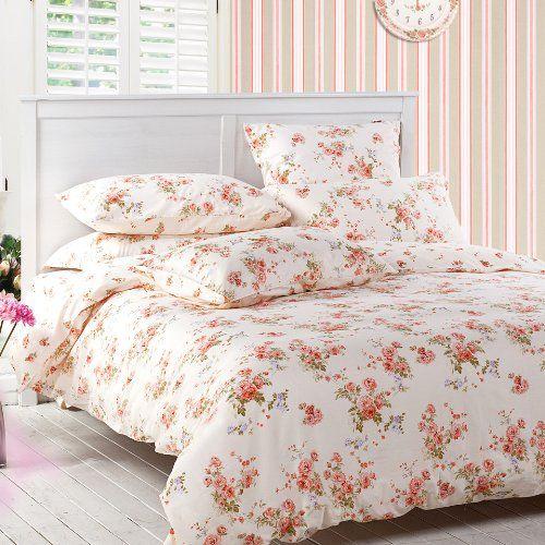 Buy Sisbay Girls Vintage Floral Bedding Rural Red Rose Garden
