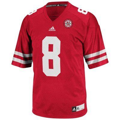 finest selection 41f74 618ff adidas Nebraska Cornhuskers #8 Youth Replica Football Jersey ...