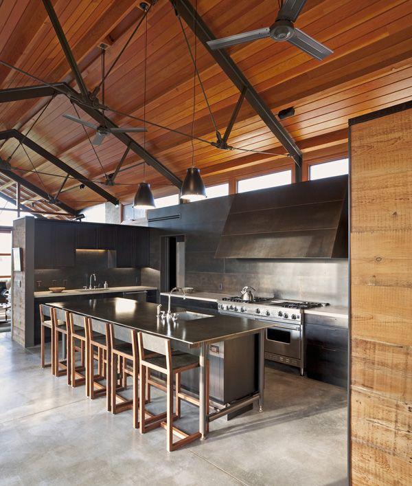 Rancho lc en montana combinaci n de dise o natural y for Casa quinta moderna